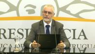 Benjamín Liberoff en conferencia de prensa. Foto: Captura de pantalla Presidencia