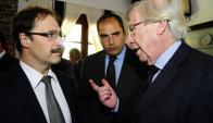 Andrés Masoller junto a Astori y Ferreri, futuro dos de Economía. Foto: Marcelo Bonjour