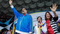 Maduro durante un acto público hoy en Venezuela. Foto: EFE