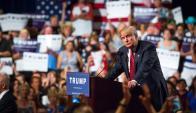 Con un estilo ofensivo para sus adversarios, Trump suma partidarios republicanos. Foto: AFP.