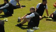 Marcelo Tabárez volvió a los entrenamientos. Foto: Francisco Flores