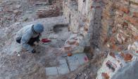 En el predio de Reconqusita y Zabala hallaron tres cisternas de almacenamiento de agua.