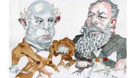 Domingo Faustino Sarmiento y José Hernández, por Ombú