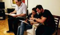 Christian Font, Federico Paz y Gaspar Valverde. Foto: Twitter