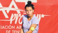 Uruguaya. Margot Mercier está jugando en Túnez.