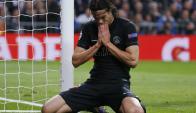 Edinson Cavani en el partido con PSG. Foto: Reuters.