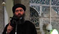 Abu Bakr al Bagdadi, califa del Estado Islámico, pidiendo obediencia. Foto: AFP