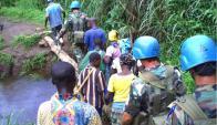 Militares uruguayos están en permanente control en Congo.