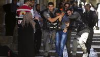 Incidentes: la Policía israelí detuvo a protagonistas de los hechos. Foto: Reuters
