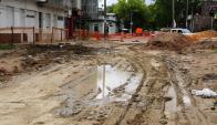 Así quedó la calle Cufré por el fracaso del Plan de Saneamiento. Foto: M. Bonjour