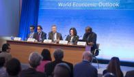 La plana mayor del FMI presentó ayer su informe sobre perspectivas. Foto: FMI