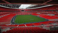 Wembley (Londres, Inglaterra) Fue inaugurado en el 2007 y se levanta sobre el terreno que ocupó el antiguo estadio del mismo nombre, considerado como la catedral del fútbol. Aquí se jugará la final de la Champions League entre el Borussia Dortmund y Bayer