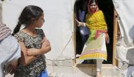 Malala Yousafzai inauguró una escuela para niñas refugiadas. Foto: Reuters