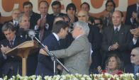 "El ministro Aguerre dijo que ""fue el mejor discurso de la ARU que escuche"". Foto: A. Colmegna"