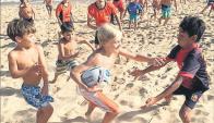 Niños. El rugby infantil sigue creciendo en todo el interior.