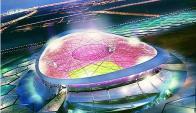 El proyectado estadio Lusail