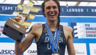 Gwen Jorgensen revalidó el título mundial en Chicago. Foto: Agencia EFE