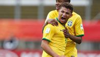 Judivan festejando uno de los goles de Brasil en el Mundial Sub 20. Foto: EFE