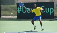 Darian King, el arma de Barbados. Foto EFE