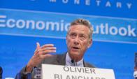 Olivier Blanchard fue el encargado de presentar el informe. Foto: AFP