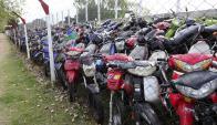 Las motos incautadas van a parar al predio de la Republicana. Foto: M. Bonjour