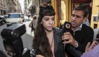 Natalia Fernández declaró ayer ante la fiscal Fein. Foto: La Nación/GDA.