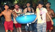 Explosión en Taiwán. Foto: EFE