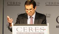 Ernesto Talvi en su disertación anual para empresarios. Foto: Marcelo Bonjour