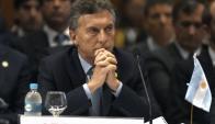 Mauricio Macri en la cumbre del Mercosur. Foto: AFP