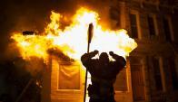 Protestas y tensión racial en Baltimore, Estados Unidos. Foto: EFE