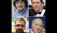 De izq a derecha: Cabu, Tignous, abajo de izq a der:  Charb, director de la revista y Wolinski. Foto: AFP