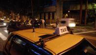 Los delincuentes usaron el taxi como medio.