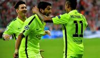 Messi, Neymar y Luis Suárez, el tridente del Barcelona. Foto: Archivo El País.
