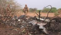 En el accidente murieron también los dos pilotos y los 4 tripulantes. Foto: AFP