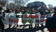 El Suinau marchó en solidaridad con los trabajadores procesados. Foto: Facebook Jóvenes Suinau
