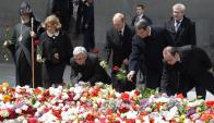 Líderes mundiales presentes en conmemoración por cien años de genocidio armenio. Foto: EFE
