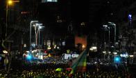 Marcha de la Diversidad por el centro de Montevideo. Foto: Fernando Ponzetto