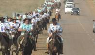 Hasta el próximo domingo recorrerán 750 km. en Salto. Foto: Manuela del Campo Saravia.