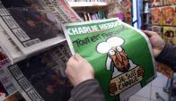 Pasada tapa de Charlie Hebdo. Foto: AFP