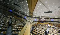 Oficinas del Parlamento Europeo en Bruselas fueron evacuadas por amenaza de bomba. Foto: EFE