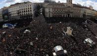 Marcha Podemos en Madrid. Foto: Archivo.