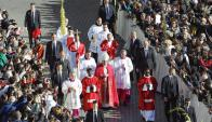 Asistieron a la Plaza San Pedro a presencia la misa del Domingo de Ramos. Foto: Reuters