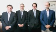 Pablo Marroche DESEM Jóvenes Emprendedores, Diego Tabakian Pernod Ricard, Juan Campomar DIAGEO y Rodrigo del Pino FNC