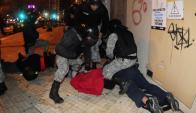Guardia Republicana detuvo a una decena de manifestantes. Foto: Fernando Ponzetto.