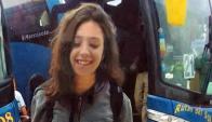Lola, minutos después de llegar a Valizas en sábado 27. Al otro día fue asesinada.