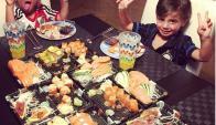 Los lujos al paladar que se dan los hijos de Wanda. Foto: Instagram @mauroicardi