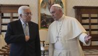 El papa Francisco y Mahmud Abas en el Vaticano. Foto: Reuters