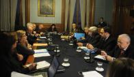 Comisión de Seguridad: ayer sesionó por primera vez con el ministro Bonomi. Foto: A. Martínez