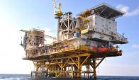 Plataforma petrolera en alta mar. Foto: AFP