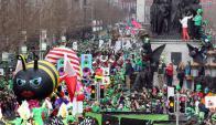 Desfile de San Patricio en Dublín. Foto: AFP